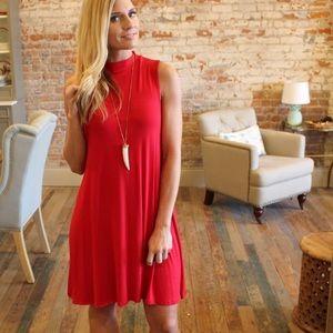 Dresses & Skirts - Red Sleeveless Swing Dress